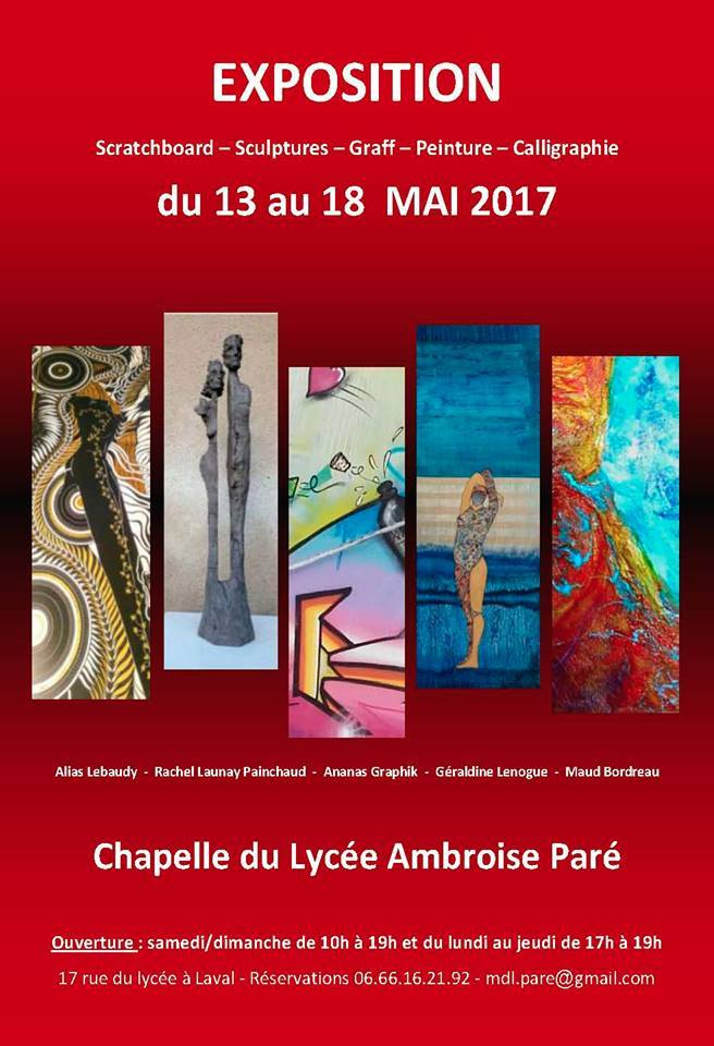 Rachel Sculptures Expo Lycée Ambroise Paré